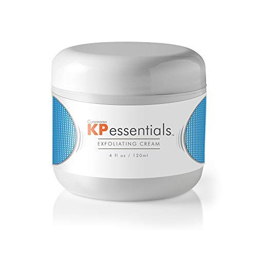 KP Essentials - Keratosis Pilaris Exfoliating Cream - Clear Red Bumps on Thighs and Arms For Confident Clear Skin - 4oz (1 Bottle)