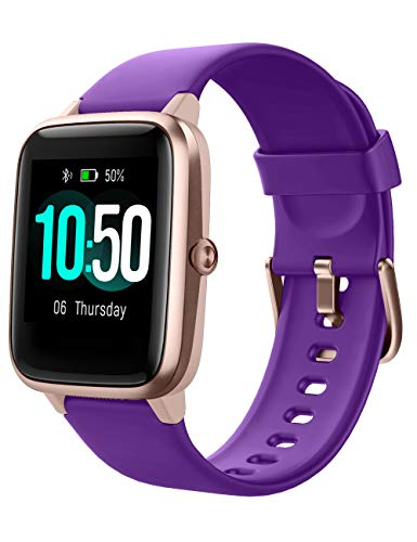 YAMAY Smart Watch Fitness Tracker Watches for Men Women, Fitness Watch Heart Rate Monitor IP68 Waterproof Digital Watch with Step Calories Sleep Tracker, Smartwatch Compatible iPhone (Purple) Features Fitness Smartwatches Sports