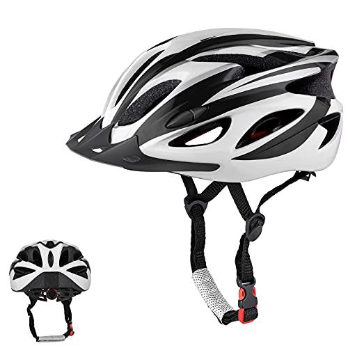 Zacro Casco Bici,casco mtb leggero con visiera parasole staccabile, per la protezione della testa maschile e femminile, regolabile 54-62 cm