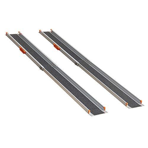 LIEKUMM 2 x Rampa de carga antideslizante, portátil, portátil, portátil,...
