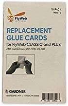 Flyweb Fly Light Replacement Glue Boards for Gardner Flyweb Classic Fly Light and Flyweb Plus – Pack of 10 Glue Cards