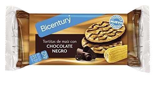 Bicentury Tortitas de Maíz con Chocolate Negro, Pack de 4 x 23.7g
