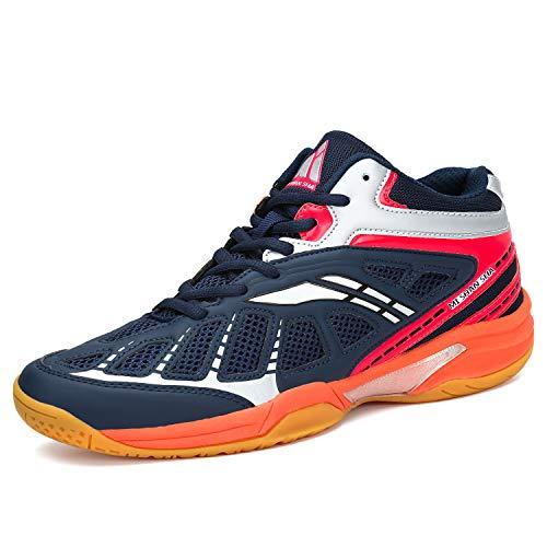 Mishansha Herren Badmintonschuhe Leichte Laufschuhe Sportschuhe Non-Slip Indoor Outdoorschuhe Freizeit Joggingschuhe Dark Blau Gr.45