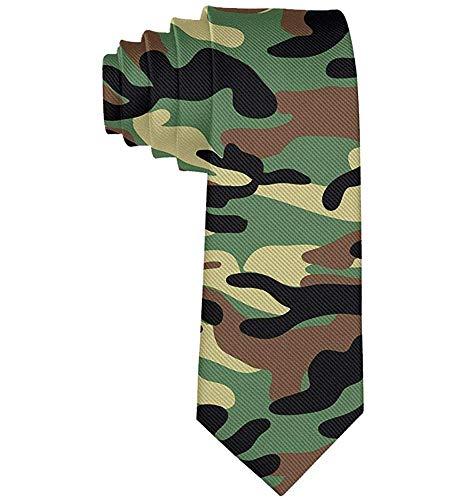 Dunkelbraune Camouflage Krawatten für Männer Krawatte Herren Krawatten Krawatten