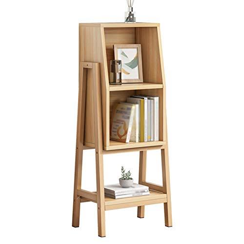 Librero Estante de Madera de Piso a Techo de 3 Capas + librero de Alta Densidad de Fibra de Alta Densidad. Estante para Libros
