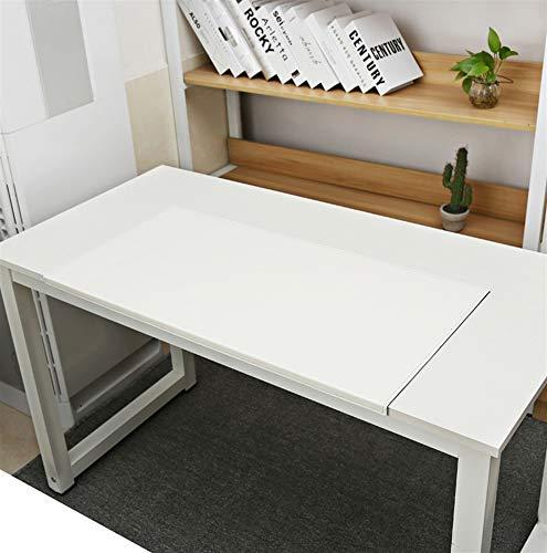SK Studio Schreibtischunterlage mit Kantenschutz Wasserdichte PU Leder, Rutschfeste mit Kantenverriegelung Mausunterlage für Computertastatur, PC und Laptop Weiß 60x30cm