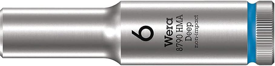 """Wera 05004503001 8790 HMA Deep klucz nasadowy 1/4"""", niebieski, 6,0 mm"""