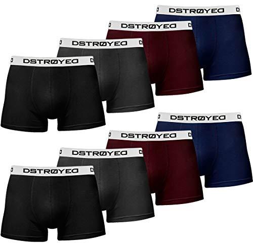 DSTROYED ® Herren Boxershorts Men 8er Pack Unterwäsche Unterhosen Männer Retroshorts Baumwolle 316 (3XL, 316c 8er Set Mehrfarbig)