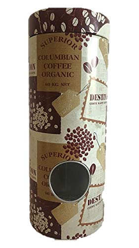 James Premium Metalldose Dose Kaffeedose Coffee Pads rund Ø ca. 8x18 cm Metalldosen Kaffee Dosen