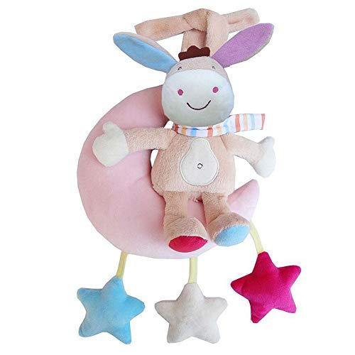 Demarkt kinderwagen speelgoed Clockwork Music Bell Monkey speelgoed roze