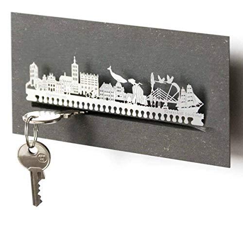 13gramm Stralsund-Skyline Schlüsselbrett Souvenir in der Geschenk-Box
