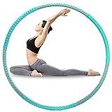 DRHOM Fitness Hula Hoop, Ajustable Hoola Hoops para Fitness Perder Peso Ejercicio Anillo Adelgazante Entrenamiento de Gimnasio en casa (Verde + Gris)