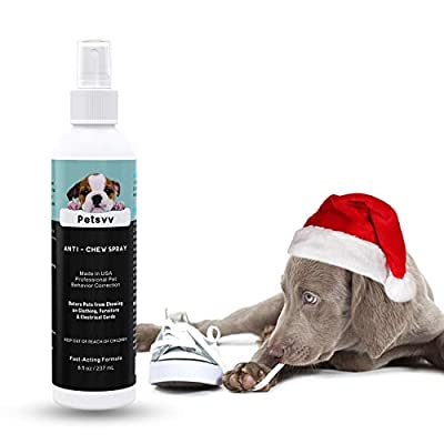 QUTOP Anti Chew Spray for Dogs, No Chew Spray for Dogs and Puppies to Stop Chewing on Furniture & Wounds, Dog Deterrent Spray - 8oz