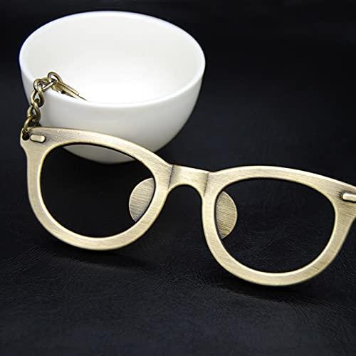 MINTUAN Gafas 3D, llaveros, abridor de Botellas, Llavero para Hombres, Llavero de Coche, Accesorios, Bolsa, Colgante, dijes, Regalo