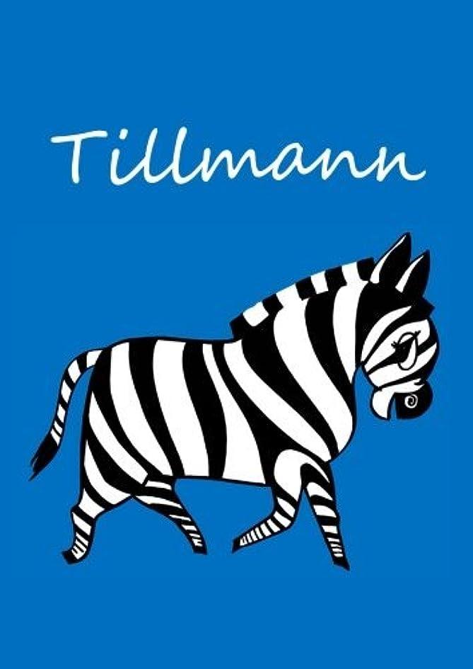 悪性腫瘍修士号拡大するTillmann: individualisiertes Malbuch / Notizbuch / Tagebuch - Zebra - A4 - blanko