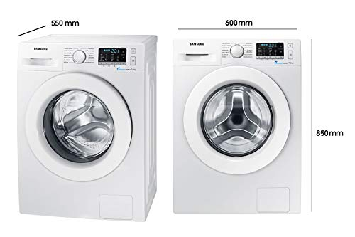 Samsung WW70J5585MW/EG Waschmaschine Frontlader / 7kg / Automatikprogramme / SchaumAktiv-Technologie / FleckenIntensiv / 85 cm Höhe / Aquastop 4