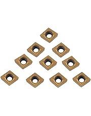 10 piezas de insertos de carburo, herramienta de torneado de torno de corte CNC con caja para acero semiacabado