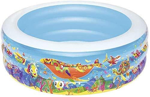 XZQ Easy Set Piscina Inflable, Juego de Agua Parque for niños de 0-9 Perfecto for Adultos de los niños al Aire Libre Diversión Patio Patio de Madera Playa