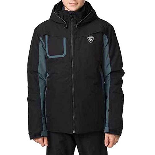 ROSSIGNOL Boy Ski Jacket Giacca da sci Bambini, Bambino, RLIYJ11, Nero , 10 anni