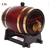 TuToy 1.5L/3Ll Holzholz Rotweinfelden Eile Whisky Rum Brewing Keg Container - 1.5L