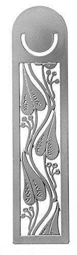 Super Art Nouveau Drei Blätter Design Chrom Lesezeichen