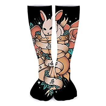 Rabbit Of Caebannog Monty Python And The Holy Grail Tattoo Style Super soft fashionable women trend socks