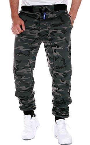 RMK Herren Jogginghose Sporthose Trainingshose Uni Camouflage H.03H.03 M Camouflage Dunkel