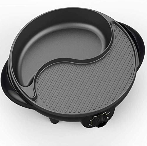 YUFU Elektrische Smokeless Indoor Grill Hot Pot Multi-Function Gesunde Wok Kochgeräte