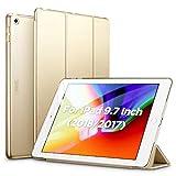ESR Hülle Kompatibel mit iPad 2018 / iPad 2017 Modell 9,7 Zoll - Ultra Dünnes Smart Hülle Cover mit Auto Schlaf-/Aufwachfunktion - Kratzfeste Schutzhülle für iPad 6/5 Generation - Champagner Gold