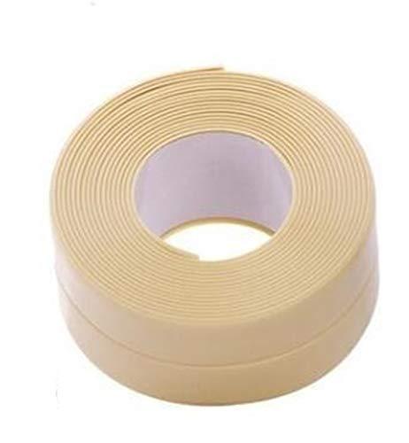 Cinta de baño impermeable PVC cocina y baño Gap Gaza pared de sellado de cinta impermeable anti-moho pegamento del azulejo de Reparación de Grietas Antimoho cinta cinta selladora para cocina, inodoro,