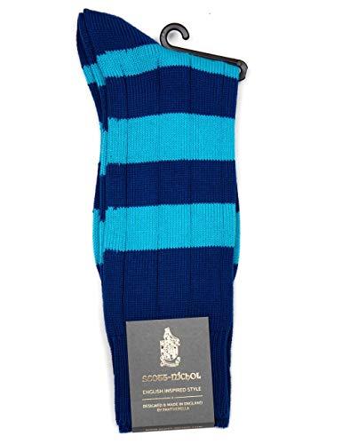 Scott Nichol Ely Rugby Strip Sock - Royal/Peppermint Royal/Peppermint Medium