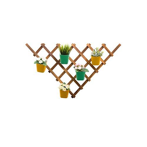 YILANJUN Wandmontage Bruin Plant Display Stand, Bloemenrek voor binnen en buiten, Houten Bloemenstandaard, Rechthoek, Ruit (oud), Driehoek (oud)
