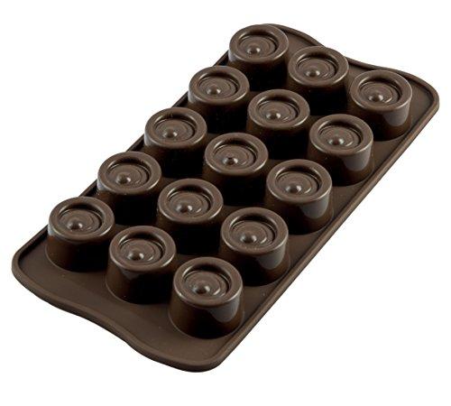 SCG04 Molde de Silicona para chocolatines Vertigo, Color marrón