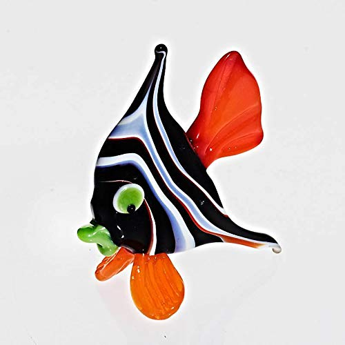 CRISTALICA Fisch Midi 6-8cm Glas Tiere Figuren Sammeln Vitrine Miniatur Aquarium