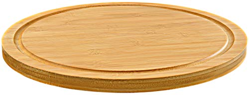 "12"" Premium Solid Bamboo Lazy Susan Wood Turntable Tray Cabinet Organizer, Balanced Smooth Spin Thicken Round Wood Tray Rotating Spice Rack for Kitchen Pantry Countertop Table"