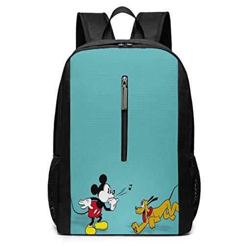 Mickeey Mouse 17 Zoll Schulrucksack Collegetasche Laptop Rucksack Rucksack mit großer Kapazität (Schwarz)