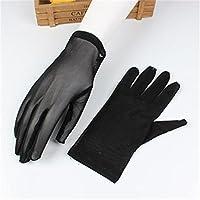 TIN-YAEN コットンソフト 夏のアンチUVショートドライビンググローブ女性のフルフィンガーブラックメッシュダンス手袋ファッション通気性のストレッチアクセサリー (Color : 2)