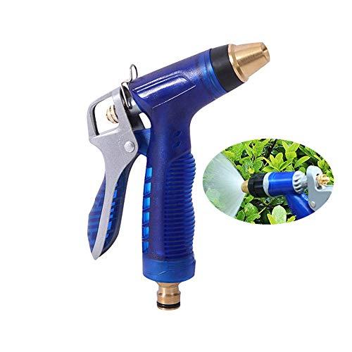 DealMux Gardena ducha diseño antideslizante pistola rociadora de manguera para lavado de mascotas pistola rociadora para manguera de jardín pistola rociadora para césped azul
