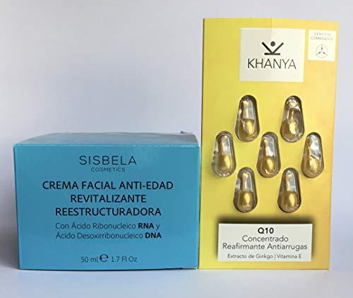 Set Sisbela crema antiedad 50 ml.+ Q10 coenzima concentrado reafirmante