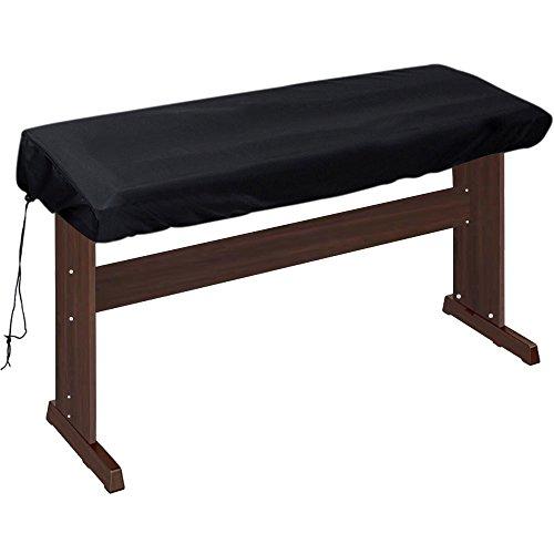 Lictin 88 Tastatur Klavierabdeckung Elektronische Klavier Abdeckung Klaviertastatur Staub Abdeckung Tastatur Staubschutz Tastaturabdeckung Schutz für Klaviertastatur, Dehnbare (schwarz)
