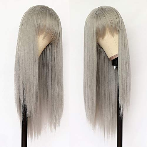 Lovestory Gray Color Synthetic Hair Wigs With...
