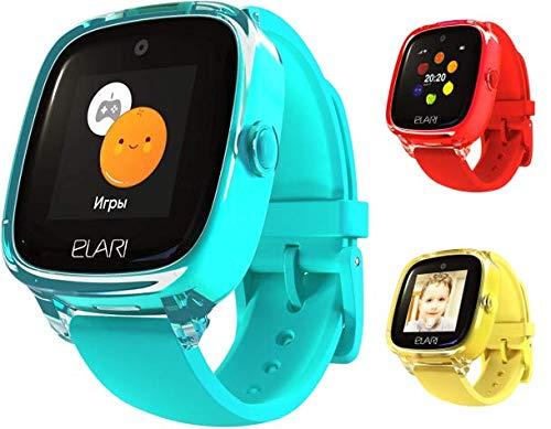 Elari 2G Reloj Inteligente Niño y Niña GPS Localizador y Llamadas Bidireccionales Audio, Chat de Voz, Botón SOS, Impermeable, Cámara, Juegos KidPhone Fresh (Verde)