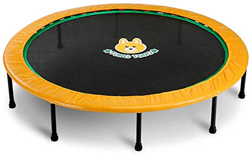 FEE-ZC Outdoor Indoor Trampolines Yellow folding fitness Quiet and Safe Bounce | Supports Up To 220 Pounds | Suitable for children, adults