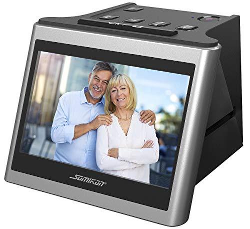Somikon Diascanner: Stand-Alone-Dia- und Negativscanner, 12,5 cm IPS-Display (5