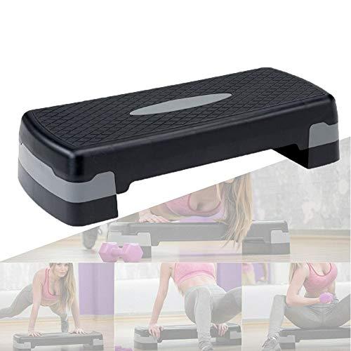 Thuis Cardio Workout Apparatuur, Fitness Oefening Pedaal Hoogte Verstelbaar 2 Niveau Aerobic Step Voor Thuis En Gym,Gray