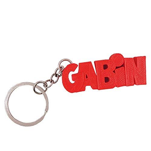 Porte-clés en 3D prénom ou Texte personnalisé – idée Cadeau Originale - Fabriqué en France - Anneau de 20 mm pour accrocher Vos clefs (Rouge)