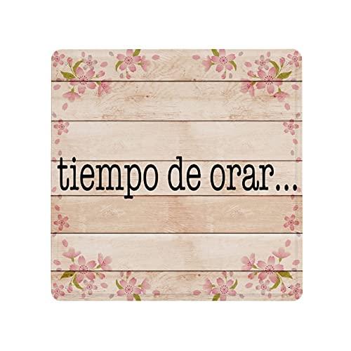 Tiempo De Orar, hiszpański, Cristiano, Christian, Milagroso Abres Camino plakietka plakietka plakietka, niestandardowa plakietka ścienna, metalowa tabliczka ścienna, retro vintage metalowe tabliczki blaszane do kawiarni, pubu, sztuka ścienna dekoracj
