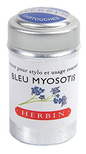 J.Herbin inktpatronen doos met 6 patronen voor standaard vulverpakking blau Vergissmeinnicht