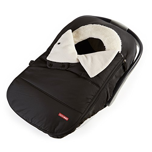 Skip Hop Winter Car Seat Cover: Ultra Plush Fleece, Black