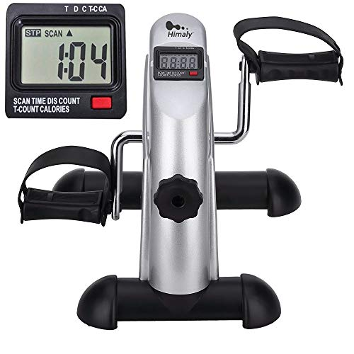 Mini Exercise Bike Portable Home Pedal Exerciser Gym Fitness Leg Arm Cardio Training Adjustable Resistance LCD Display Women Men